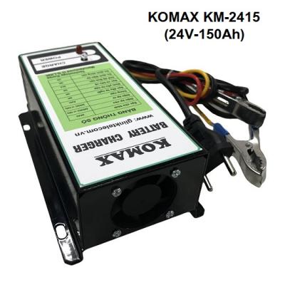 Nạp ắc quy tự động KOMAX 24V-150Ah, KM-2415