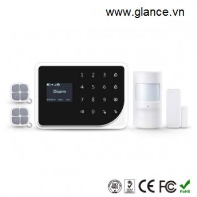 Báo động chống trộm dùng sim GLANCE S5 LCD Smart
