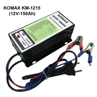 Nạp ắc quy tự động KOMAX 12V-150Ah, KM-1215