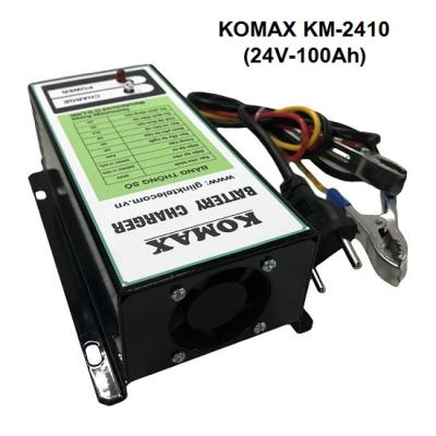 Nạp ắc quy tự động KOMAX 24V-100Ah, KM-2410
